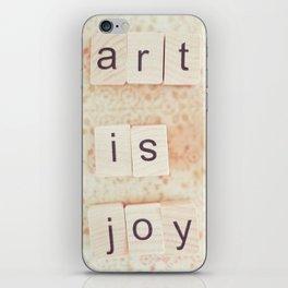 Art Is Joy iPhone Skin
