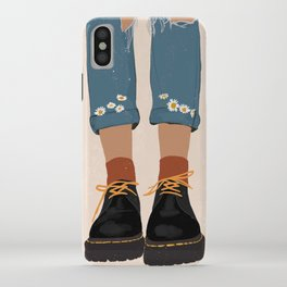 Fall Flower boots iPhone Case