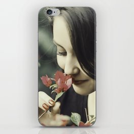 The Flower Lady iPhone Skin