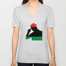 Afircan American Proud Black History Unisex V-Neck