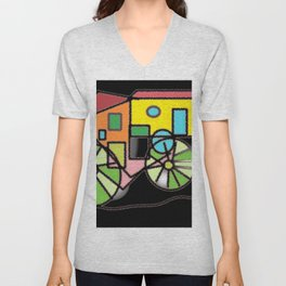 Transportations Unisex V-Neck