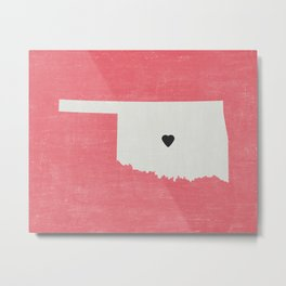 Oklahoma Love Metal Print
