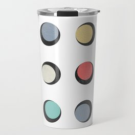 Geometric Round Travel Mug