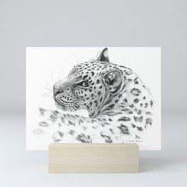 Leopard - Glance back Mini Art Print