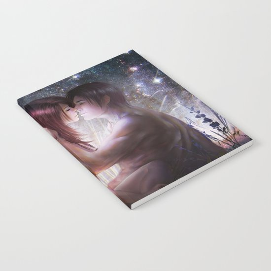 Counting stars - Romantic couple kissing Notebook