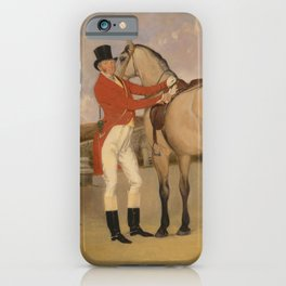 Anson Ambrose Martin - James Taylor Wray of the Bedale Hunt with his Dun Hunter (1840) iPhone Case