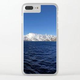 Antarctic Mountain Range Clear iPhone Case