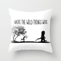 Where the wild things were. Throw Pillow