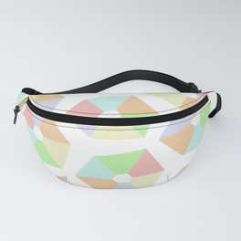 Pastel Rainbow Pinwheels Fanny Pack