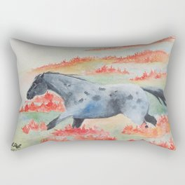 Indian Paintbrush Dakota Horse Rectangular Pillow