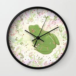 Little Frog Wall Clock
