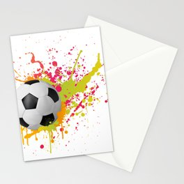 Football design with colorful splashes Stationery Cards