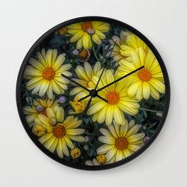 A Pop of Color Wall Clock