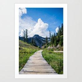 towards the mountains Art Print