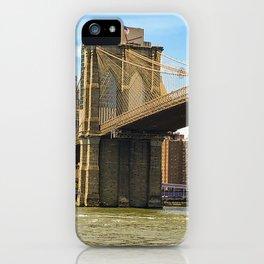 Brooklyn Bridge on a Sunny Day iPhone Case
