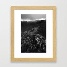 Crater 3 (BW) Framed Art Print