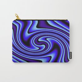 Cosmic Blue Twirls Carry-All Pouch