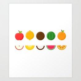 Sliced Fresh Fruit Art Print