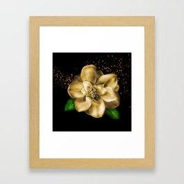 Golden Magnolia Framed Art Print