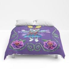 Angel Kitty (Purple) Comforters