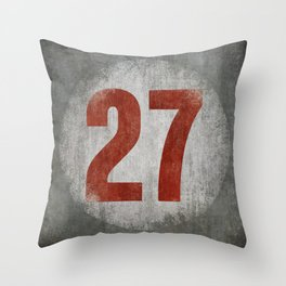 Vintage Auto Racing Number 27 Throw Pillow