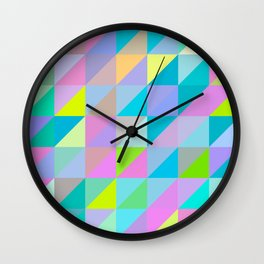 Triangles 2 Wall Clock