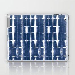 Shibori Stripes 3 Indigo Blue Laptop & iPad Skin
