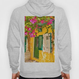 Living in the Sunshine. Always, Travel Sunny Summer Architecture Greece Spain Building Illustration Hoody