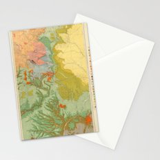 Vintage Southwest Map Stationery Cards