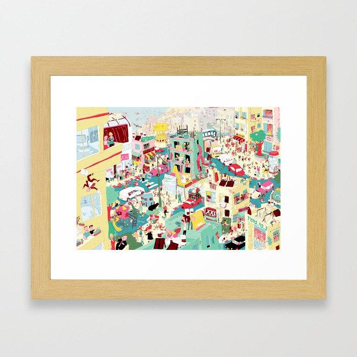 Ungeheuerlich Tel-Aviv Framed Art Print