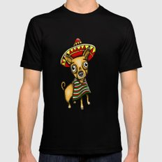 Mexican Chihuahua in Brown Black MEDIUM Mens Fitted Tee