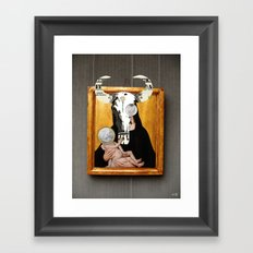 The Painting Collection Holy Child Collage Framed Art Print