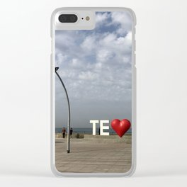 Tel Aviv Port Photography - TE(love)IV Sign Clear iPhone Case
