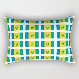 flag of Saint Vincent and the Grenadines-Saint Vincent,Grenadines,Vincentian, Vincy,Kingstown Rectangular Pillow