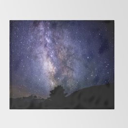 The Milky Way Violet Blue Throw Blanket
