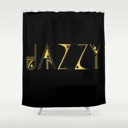 Jazzy Letterform Shower Curtain
