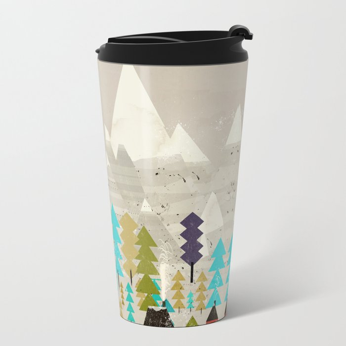 my happy mountains Metal Travel Mug