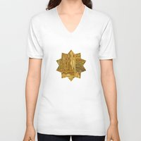 rush V-neck T-shirts featuring Gold Rush by Alexander Studio
