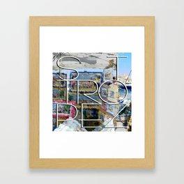 St. Tropez, paintings in harbor. Framed Art Print