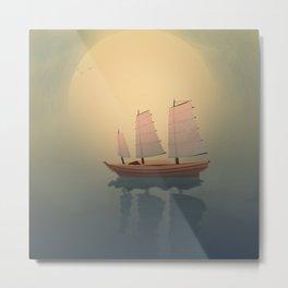 A Ship That Sails Away Metal Print
