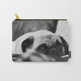 Ruby Rose the pug, having a bad day Carry-All Pouch