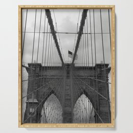 Brooklyn Bridge Cables Serving Tray