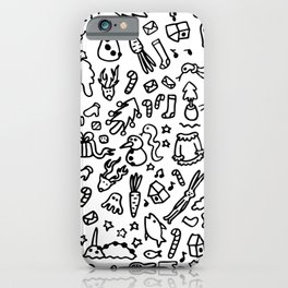 COLOR YOUR OWN Ugly Sweater Christmas Doodles iPhone Case