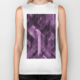 Abstract violet pattern Biker Tank