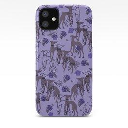 Purple greyhounds iPhone Case