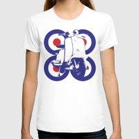 mod T-shirts featuring Vespa Mod by Sarah Jane Jackson