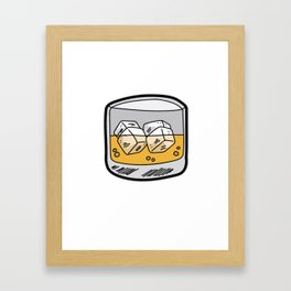 SOUP OF THE DAY Whiskey Liquor Bourbon Booze Framed Art Print