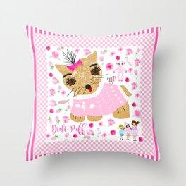 Didi puff Throw Pillow