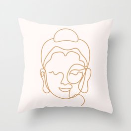 Buddha Lined Edition Zero Throw Pillow