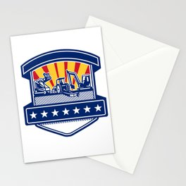 Mulcher Bush Hog and Excavation Services Badge Stationery Cards